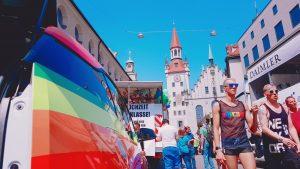 Bunte Parade beim CSD-München